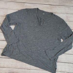 Madewell gray heathered long sleeve top